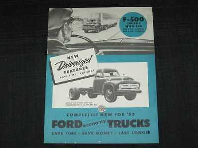 1953 Ford Trucks F-500 Catalog Sales Brochure CDN