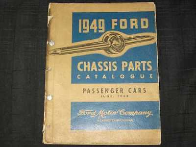 1949 Ford Chassis Parts Book Illustrated