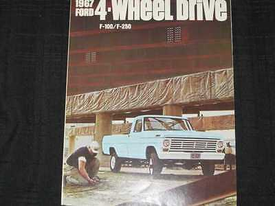 1967 Ford Trucks 4WD Folder Sales Brochure