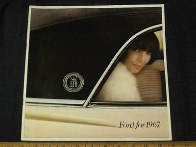1967 Ford Full Size Car Catalog Sales Brochure