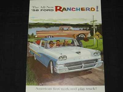 1958 Ford Truck - Ranchero Catalog Sales Brochure