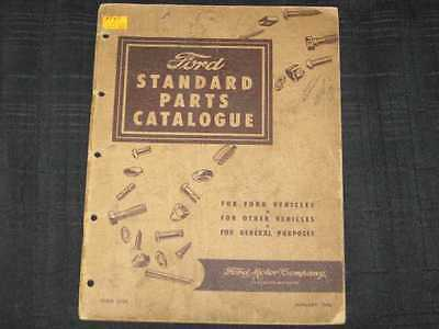 1948 Ford Nuts & Bolts Standard Parts Book Illustrated