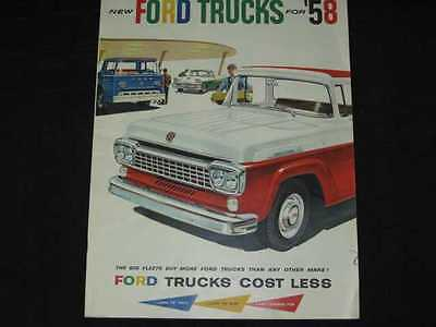 1958 Ford Trucks Full Line Prestige Sales Brochure