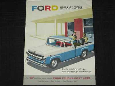 1957 Ford Light Duty Trucks Catalog Sales Brochure CDN