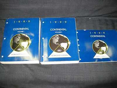 1999 Ford Lincoln Continental Shop Manual 3pcs- NEW OLD STOCK