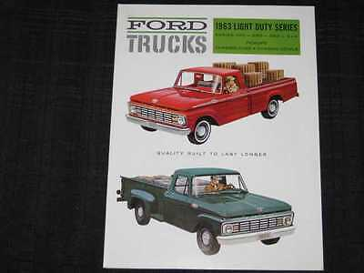 1963 Ford Light Duty Trucks Catalog Sales Brochure