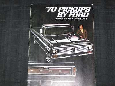1970 Ford Light Duty Trucks Catalog Sales Brochure