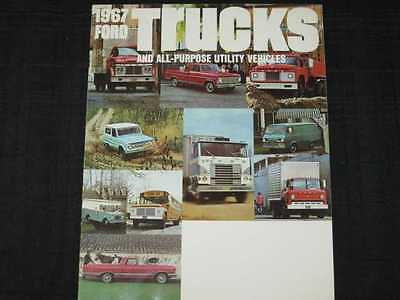 1967 Ford Trucks Full Line Catalog Sales Brochure