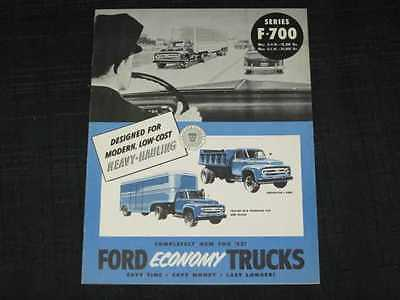 1953 Ford Trucks F-700 Series Catalog Sales Brochure