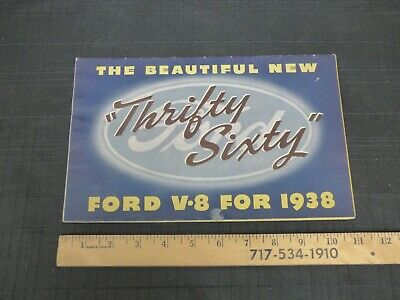 1938 Ford V8 Thrifty Sixty Folder Sales Brochure