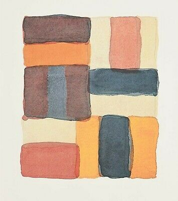 SEAN SCULLY 'Coloured Wall' 2003 SIGNED Lithograph Limited Edition #52/150 *NEW*