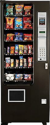 Ultra Slim Candy Chip & Snack Vending Machine, 24 Select Coin & Bill Changer AMS