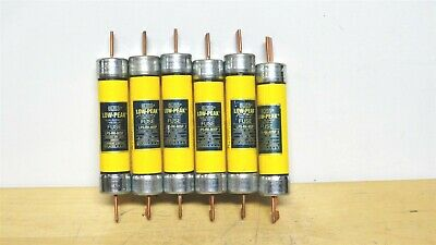 (6) - BUSSMANN * LPS-RK-80SP * Low Peak Time Delay Fuse * 600vac/300vdc  *NEW*