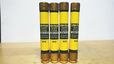 (4) - BUSSMANN * LPS-RK-5-6/10SP * Low Peak Time Delay Fuse * 600vac/300vdc *NEW