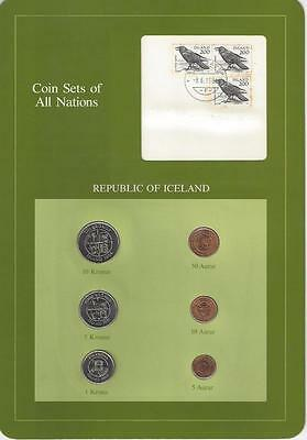 Coin Sets of All Nations - Iceland, 6 coin, green set