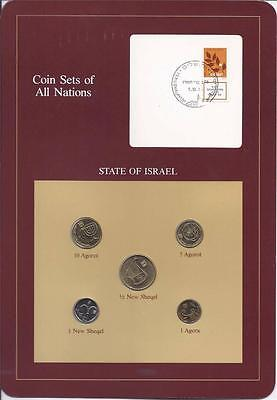 Coin Sets of All Nations - Israel, 5 coin set