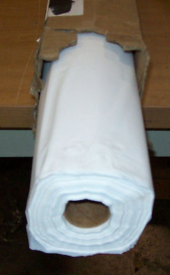 """Tablemate Disposable BioDegradable Plastic Table Cover Roll 40"""" x 300ft  White"""
