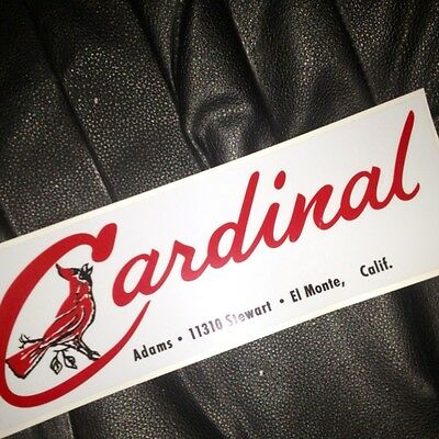 """Cardinal Deluxe Vintage Travel Trailer 19/"""" Decal Medium Sized"""