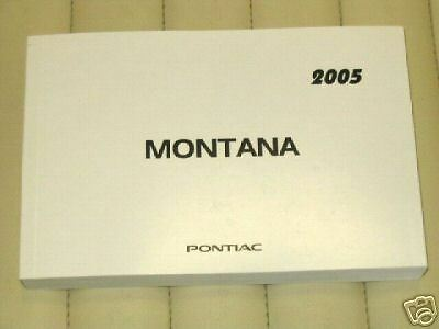 2005 pontiac montana owner s manual french 20 32 picclick rh picclick com 2002 Pontiac Montana 2006 Pontiac Montana
