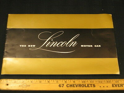 1946- 1947 LINCOLN & Continental  Prestige Color Car Sales Brochure
