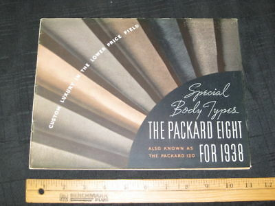 1938 PACKARD 120 Special Body Types Sales Brochure