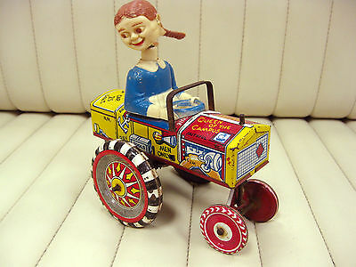 1950s MARX Crazy Car Dipsy Dora Tin Lithographed Wind Up Car