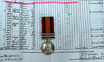 Queens South Africa (QSA) Medal 2 Bars To 2214.PTE.L.THOMAS.GLOUC.REGT