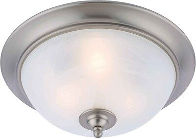 Hardware House Electrical 16-3347 Dover 3-LT Ceiling Light Fixture Satin Nickel