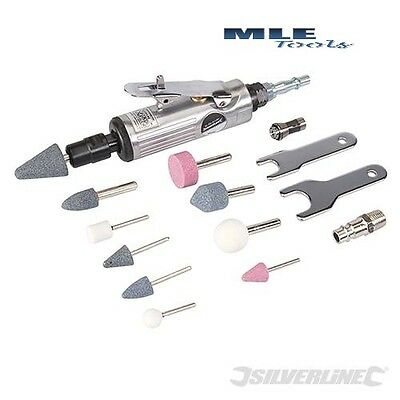 Silverline Air Die Grinder Kit 15 piece like Dremel grinding cutting 783100
