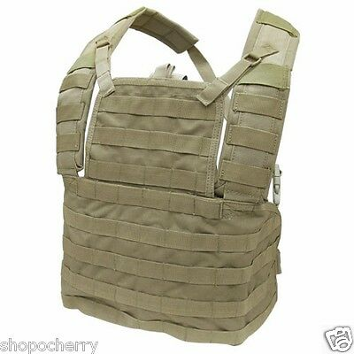 New Tan Condor MCR1 MOLLE Modular Chest Rig I Tactical Plate Carrier Vest