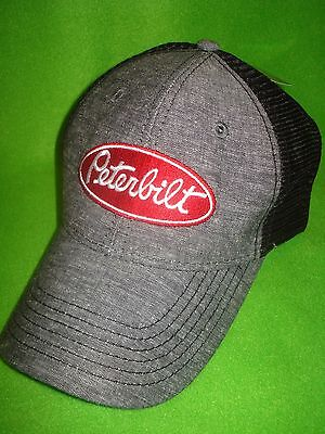 Peterbilt Hat:  Chambray Summer Mesh Back Trucker's Cap   FREE SHIPPING IN U.S.A