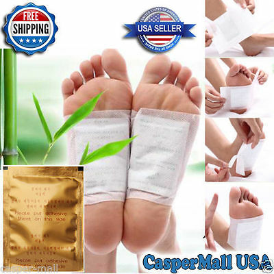 100 Detox foot pads detoxifying patches weight loss pain reduction U.S. Seller!
