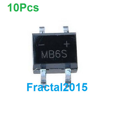10X MB6S SOP-4 600V 0.5A Bridge Rectifier SMD