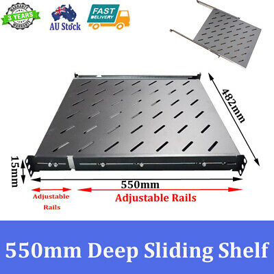 Brand New 550mm Deep Sliding Shelf For 800mm Deep 19 inch Server Cabinet
