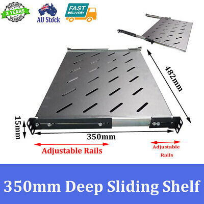 Brand New 350mm Deep Sliding Shelf For 600mm Deep 19 inch Server Cabinet