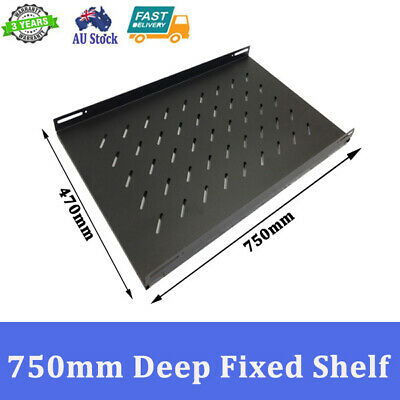 "Brand New 750mm Deep Fixed Shelf For 1000mm 19 inch 19"" Server Cabinet"