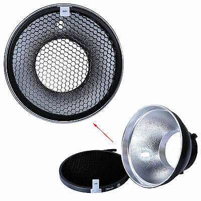 180mm Metal Reflector Softbox+Honeycomb Grid for Bowens Studio Strobe Flash