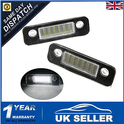 Led Number License Plate Upgrade Light For Ford Mondeo Fiesta Fusion Error Free