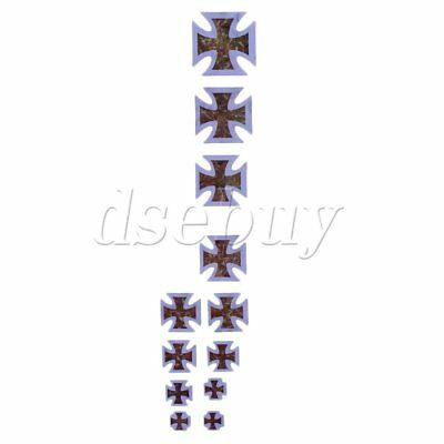 Guitar Inlay Sticker Fretboard Notes DIY Marker for Bass Yellow Crucifix