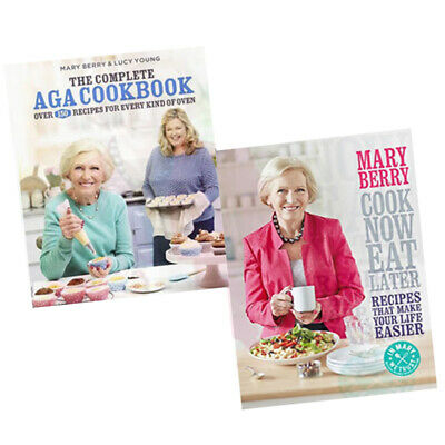 Mary Berry 2 Books Collection Set (The Complete Aga Cookbook,Cook Now) New