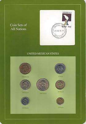 Coin Sets of All Nations - Mexico, 7 coin, Green card