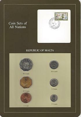 Coin Sets of All Nations - Malta, 6 Coin Set