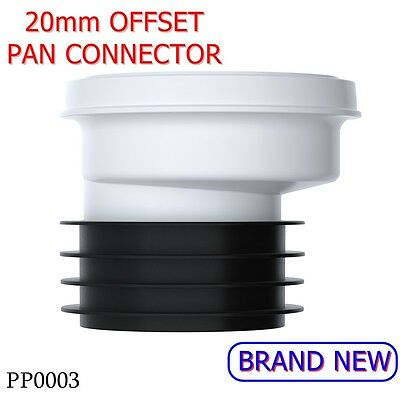 PP0003 VIVA 20mm Offset Rigid Polypropylene EASI-FIT WC Pan Connector