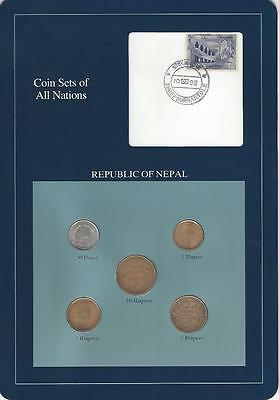 Coin Sets of All Nations - Nepal, Blue Card, Scarce