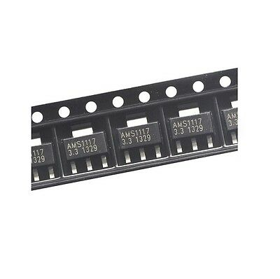 50PCS AMS1117-3.3 LM1117 1A 3.3V SOT-223 Voltage Regulator