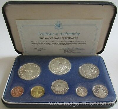 Barbados KMS Kursmünzensatz Coin Set 1974 PP Proof