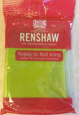 Renshaw LIME GREEN  Regalice Decorice / Sugarpaste / roll out icing - 250g pack