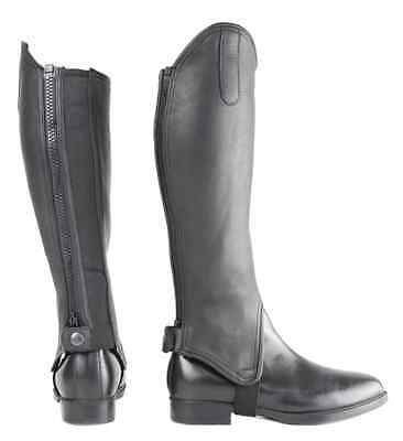 Hy Leather Gaiters - Black
