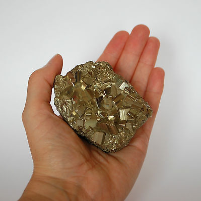 Pyrite Natural Crystal Cluster - 8x5.5x4cm - 486g