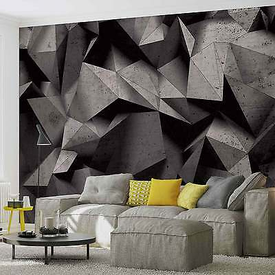 WALL MURAL Modern Abstract Black White Geometric XXL PHOTO WALLPAPER (3062DC)